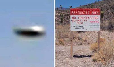 Zone 51 : Un OVNI métallique pris en vidéo près d'une base militaire