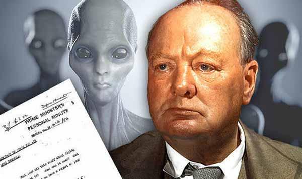 Churchill a délibérément caché des documents qui prouvent l'existence des OVNIs
