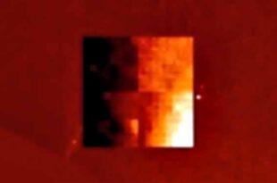 Un Cube Extraterrestre repéré près du Soleil dans des photos du satellite SOHO de la NASA